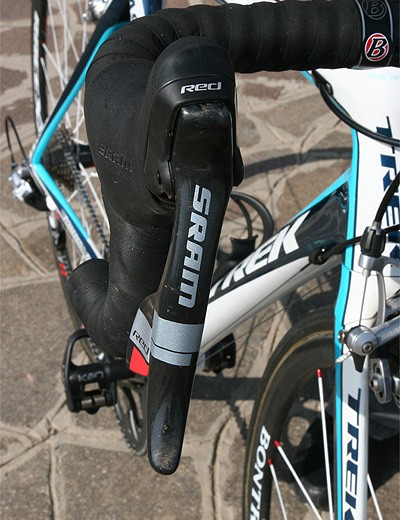 The Red levers use SRAM's unique DoubleTap method of shift actuation and adjustable reach