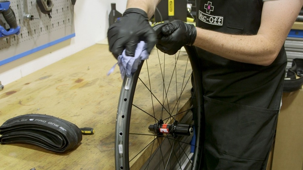 Thoroughly clean your rim before applying tape