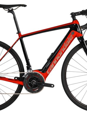 The Cannondale Synapse NEO Al 2 is available in red...