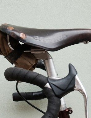 The bike came with a well-loved Brooks saddle that has now taken its place beneath Laura's bum