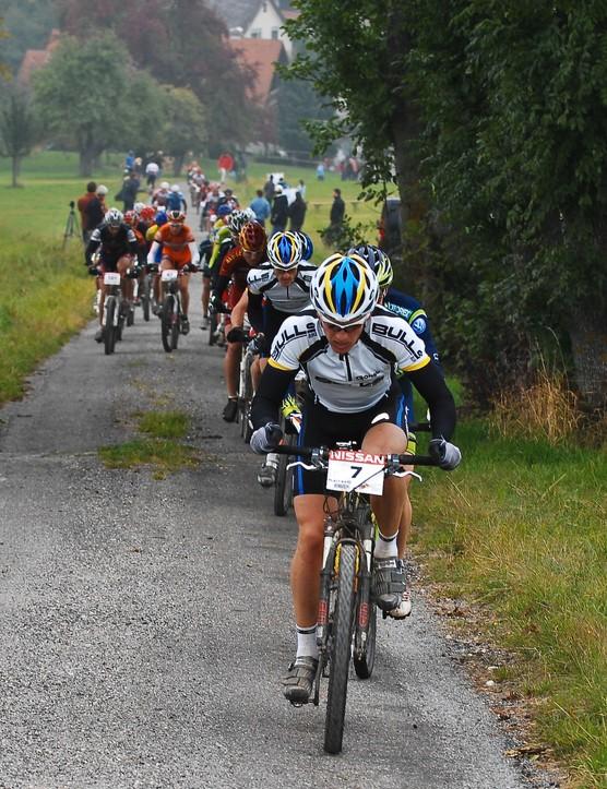 Platt leads as the race gets underway