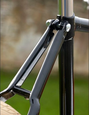 Bolt-on stays were a common feature on race bikes of the 30s