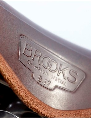Brooks B17 saddle is a classic, updated here with titanium rails