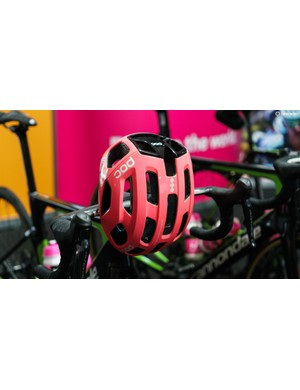 POC's new Ventral Air helmet was spotted upon the domes of team EF Pro Cycling's riders