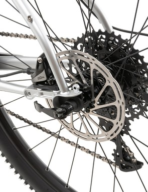 The bike uses widely used standards throughout