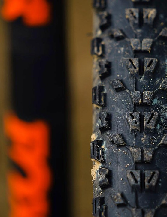 Maxxis Ardent tyres aren't up to UK slop, but roll fast on hard-pack trails