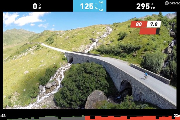 The Sufferfest's app combines the well-known videos with perceived-exertion scales with specfic power targets and interaction with heart-rate monitors, power meters, cadence sensors and smart trainers