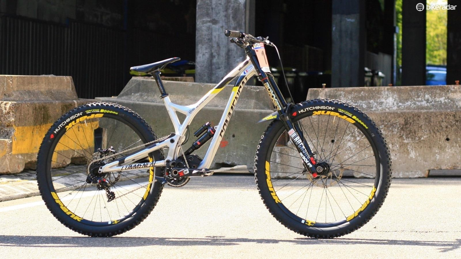 Myrim Nicole's Commencal Supreme DH is set for the Lourdes World Cup