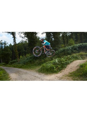 Rob Weaver doing his best to dispel the myth that 29ers aren't fun
