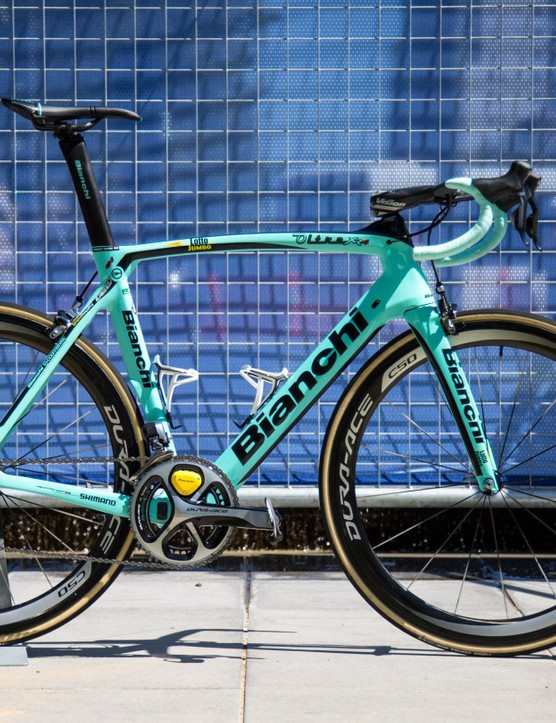 Check out Robert Gesink's Bianchi Oltre XR4