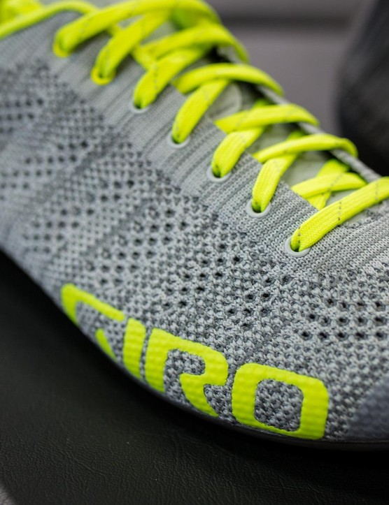 Popular in athletic shoes, knit uppers have not been used in cycling until now