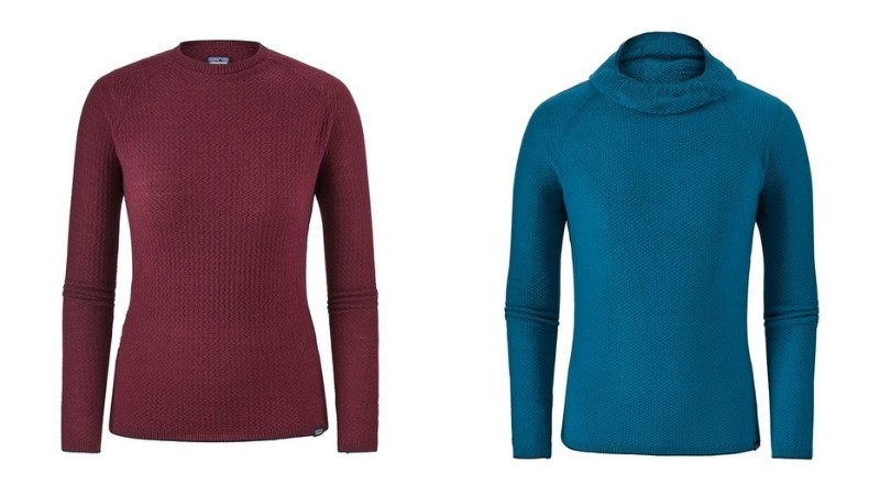 Capilene Air base layers are made from 51% merino wool and 49% recycled poyester