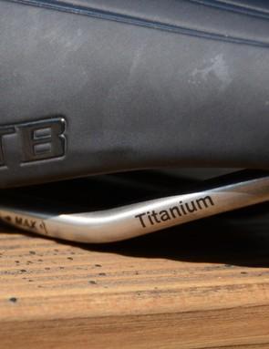 Titanium rails offer a good strength to weight ratio plus a bit of vibration quelling