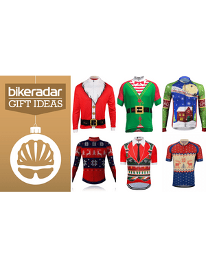 Don't fret, there are plenty of highly questionable holiday jerseys to show off your seasonal spirit on the bike