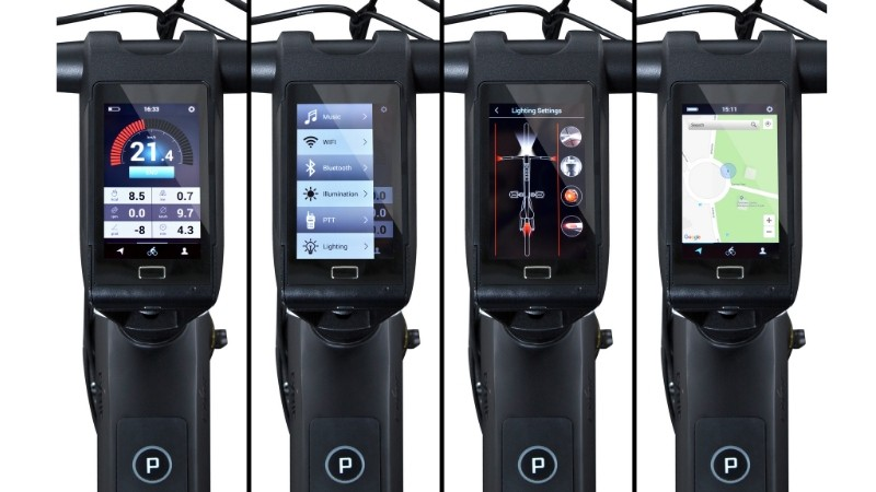 Voice activated features include cycling performance data, GPS mapping and directions, music and security systems