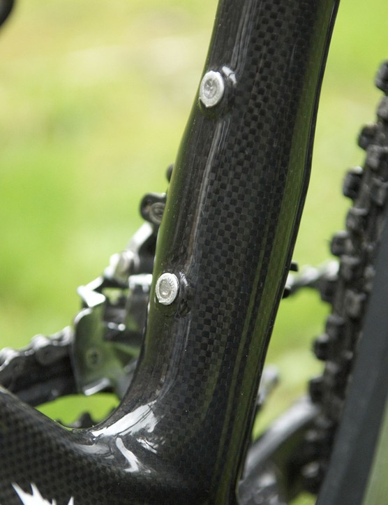 As there's no need to allow for a conventional clamp, Rocky Mountain could shape the seat tube nearly however it wanted.