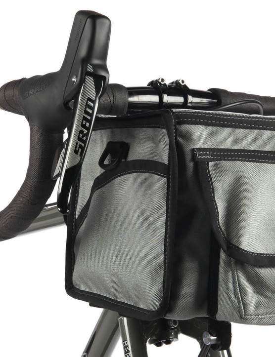 Both of the bikes are designed around carrying front loads, like this porteur bag
