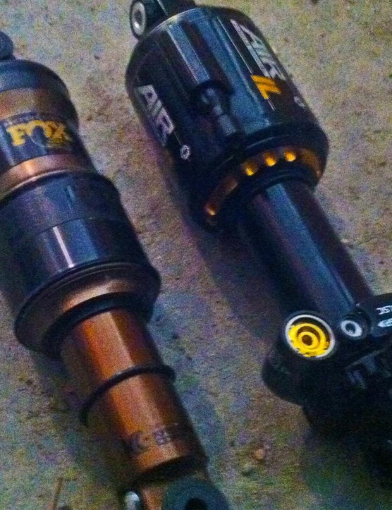 Swapping the Fox Float rear shock for the Cane Creek DB Air Inline made a huge improvement in rear end performance