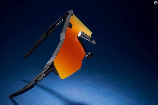The tough, shatterproof Grilamid frame's arms are vented, flexible and grippy, for security and comfort