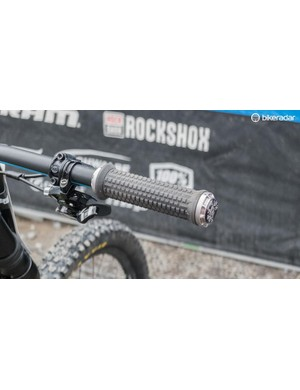 Cheese grater-like grips to cope with the muddy conditions