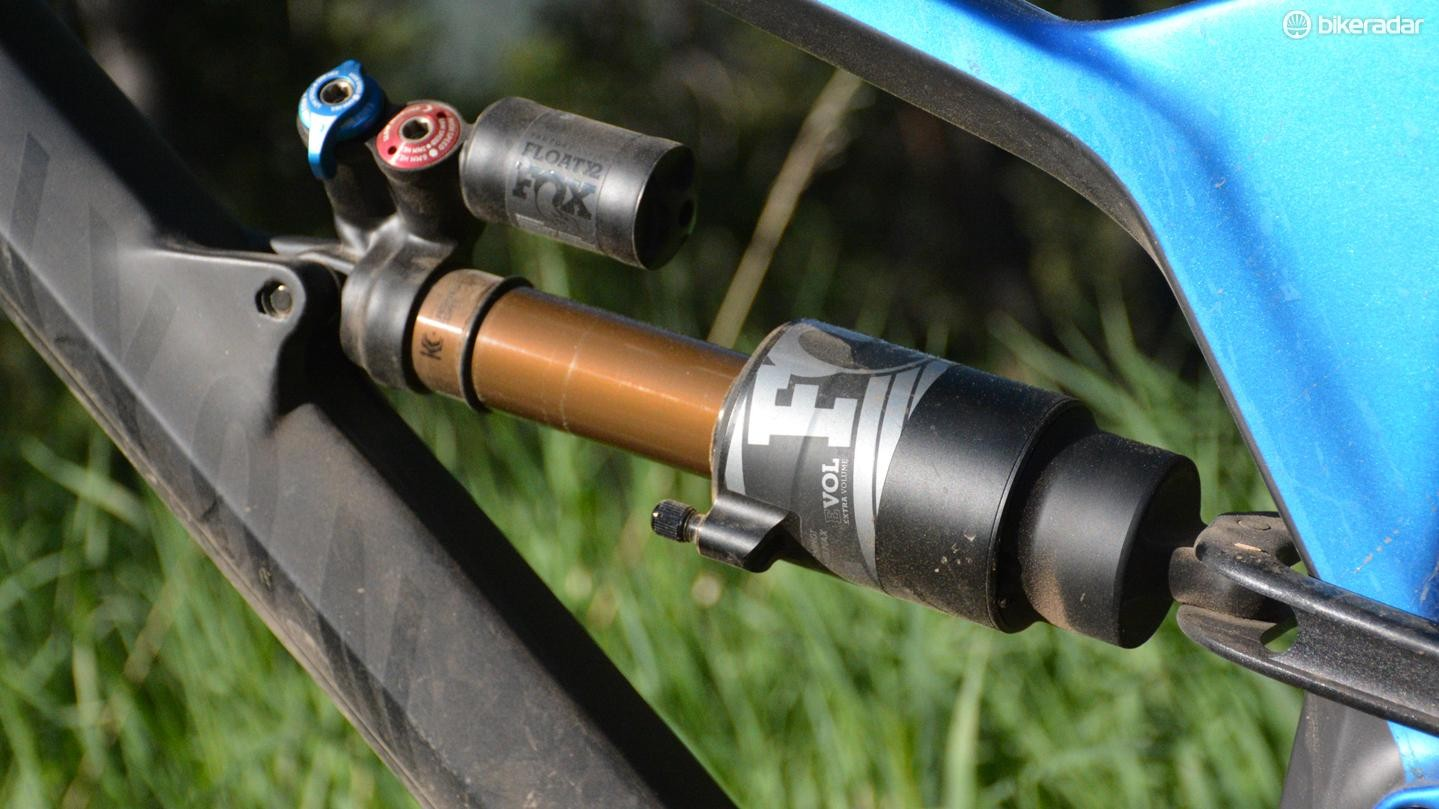 Fox's Float X2 shock has high and low compression and rebound adjustments