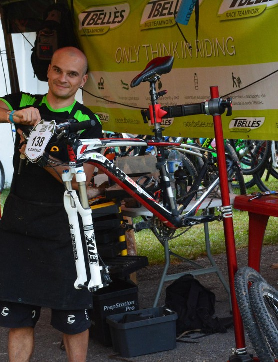 Tbelles fielded a ton of racers and provided full bike cleaning and maintenance after every stage, if you paid for that package in advance