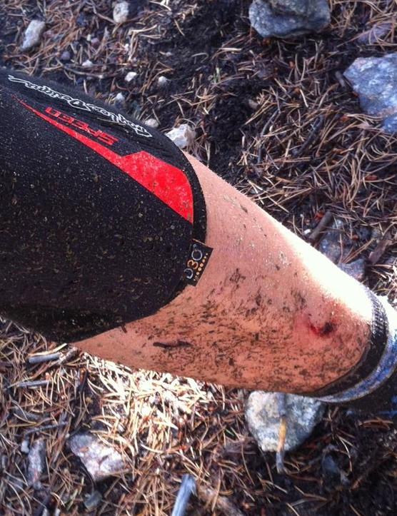 Dry and dusty to wet and sloppy, the Speed Knee Sleeves survived a range of conditions
