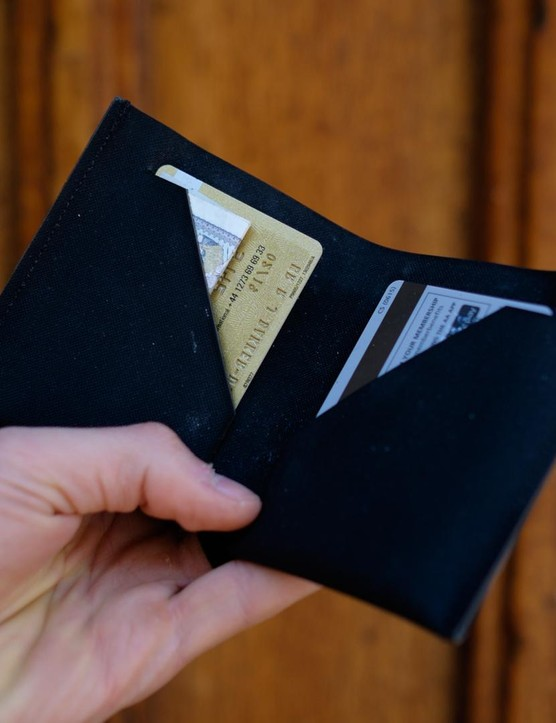 Clean, laser cut storage keeps your cards and cash in check
