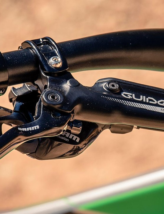 Not only has SRAM designed a new e-bike drivetrain; it's also got a new e-bike brake that pairs a Guide R lever with a Code caliper