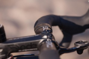 When smoothly curved like this Deda bar, 'aero' bars offer broad dispersement of pressure across the palms