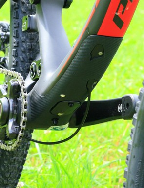 Pivot was one of the first to add Di2 capability - the battery is snugly kept in the downtube