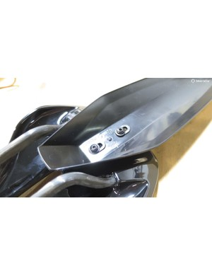 Mudguards and saddlepacks can be mounted via two bolt holes underneath
