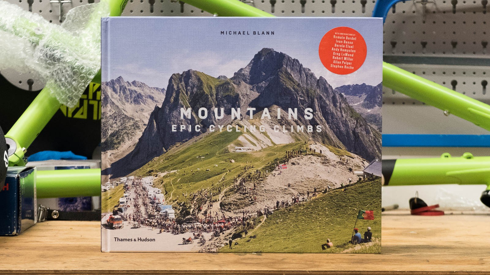 'Mountains: Epic Cycling Climbs' by Michael Blann is a howitzer of a coffee table book