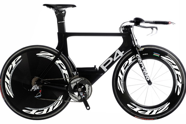 Cervélo officially unveiled its stunning new P4during the first indoor day of the Interbike trade show.