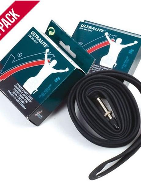 Vittoria Ultralite road inner tubes x10 700x19/23c (42mm valve)