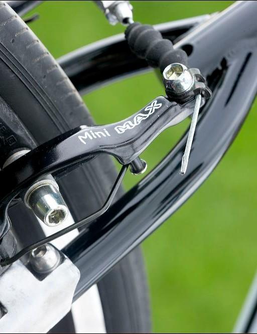 Tektro mini V-brakes provide only adequate stopping power