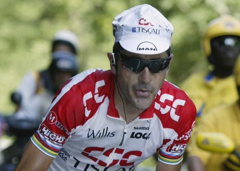 Laurent Jalabert in his road racing heyday at the 2002 Tour de France