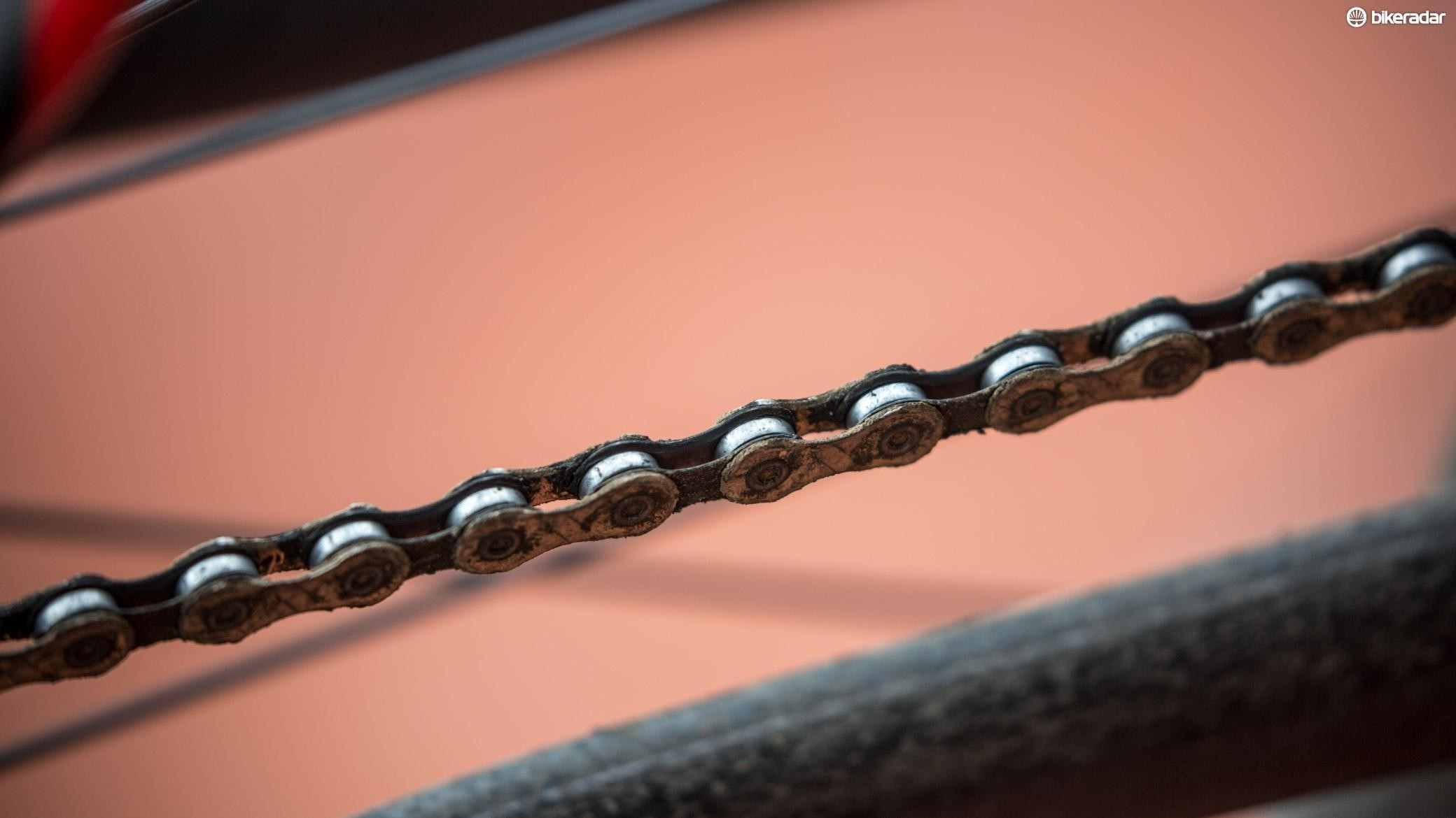 Don't let your chain get this dirty, it will just wear out your other drivetrain components