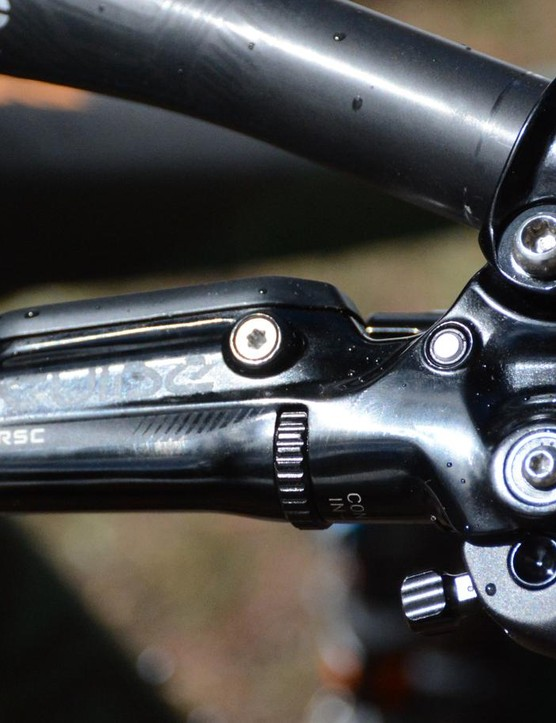 SRAM Guide RSC disc brakes clamp on to 180mm rotors front and rear