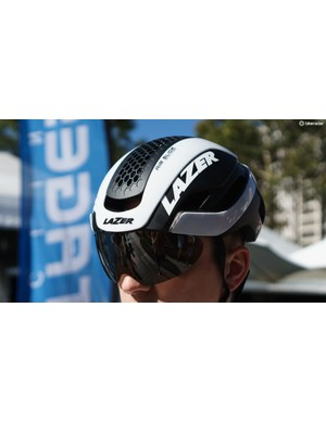 Lazer launched an updated version of its Bullet aero helmet at the event