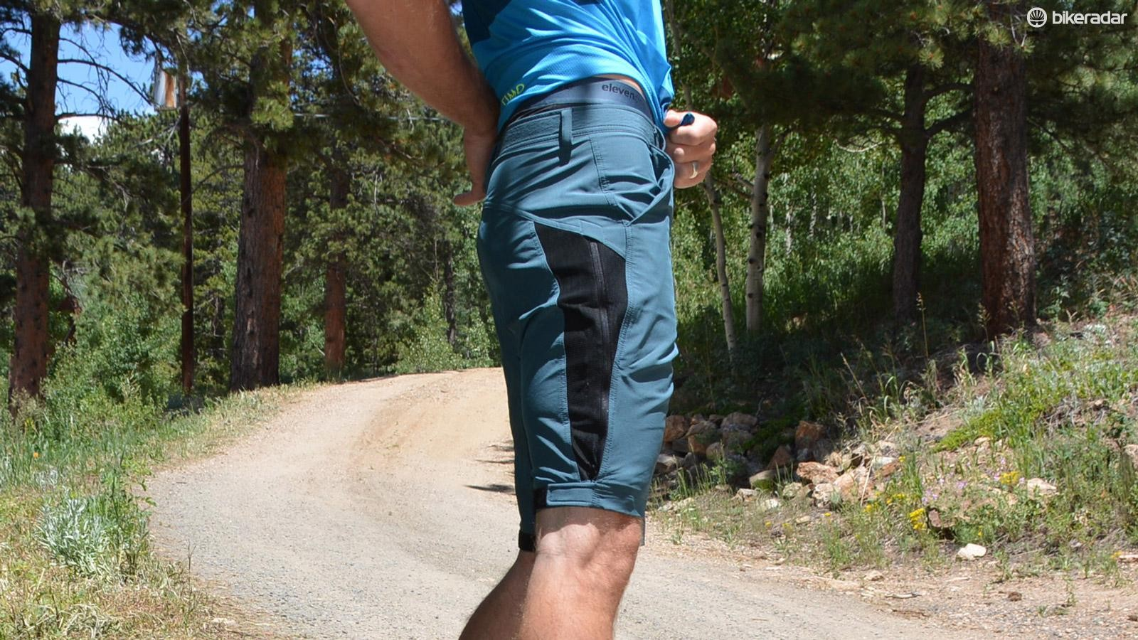 Zipped down, the legs are form fitting and similar in look and function to spandex