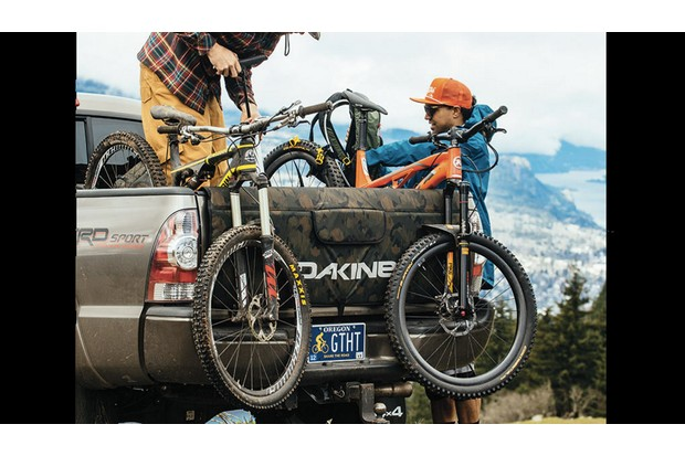 Tailgate pads are simple and very popular with mountain biking truck owners
