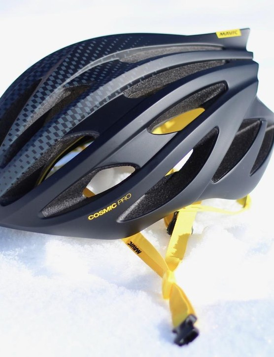Mavic's new Cosmic Pro helmet is just 20g heavier than the top-of-the-line Ultimate, but about two thirds of the cost