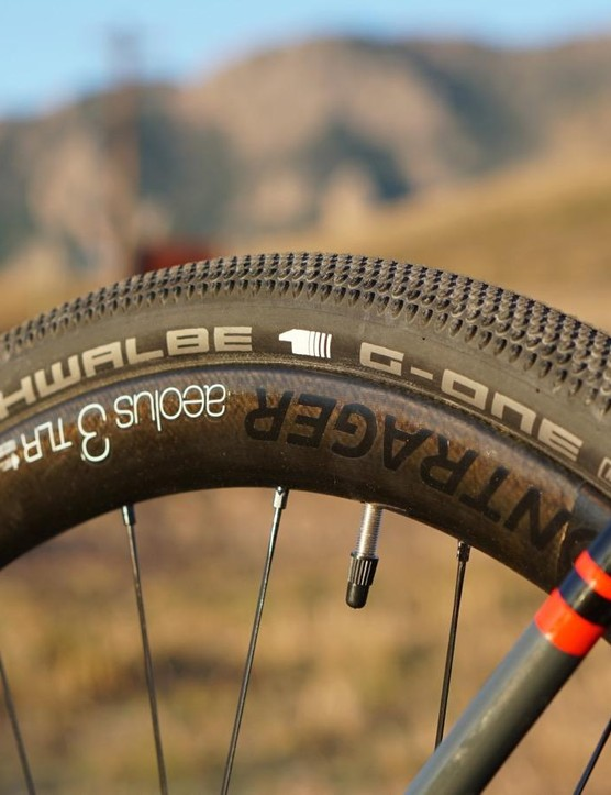 The Schwalbe G-One is a fast and relatively thin all-road tire