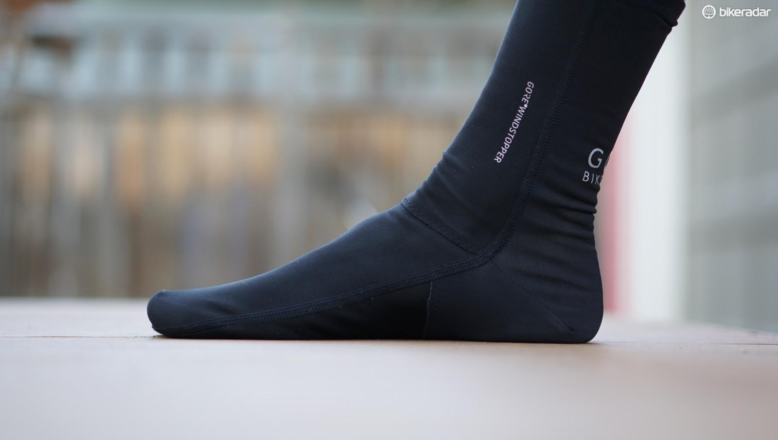 GoreTex's new Universal Gore Windstopper Partial Socks block the wind on the front, with more breathability in the back