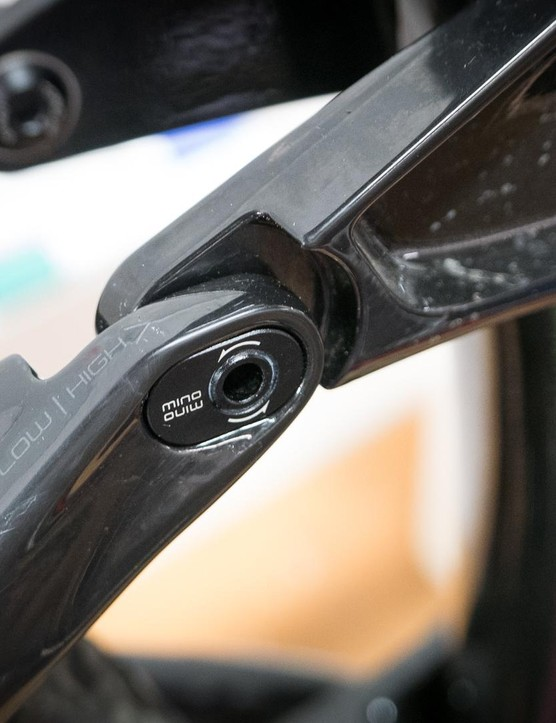 The Remedy's Mino Links allow geometry adjustment at the head angle and bottom bracket