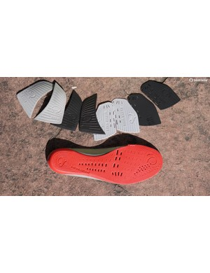 The instep and metatarsal area are tunable with the included shims