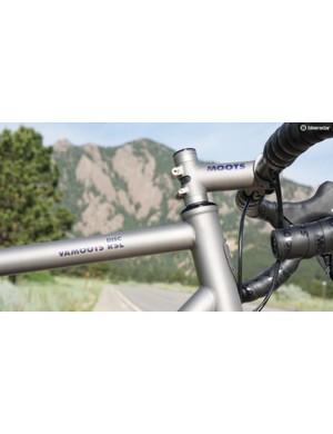 Made-in-Colorado titanium frame, stem and seatpost