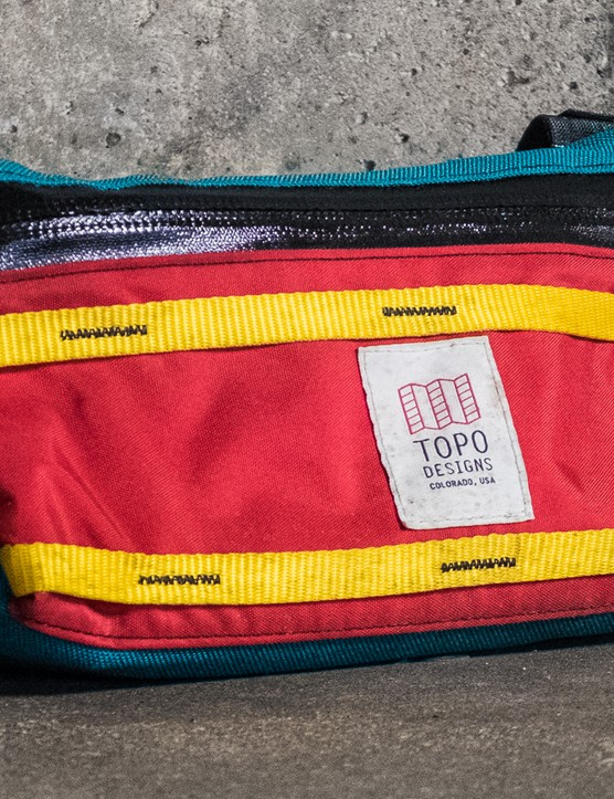 The Topo Designs bar bag is one of our favourites