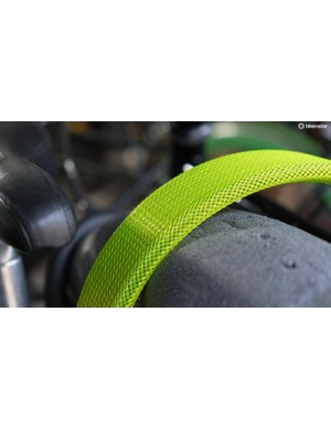 Green mesh covers the Boaflexicore composite material